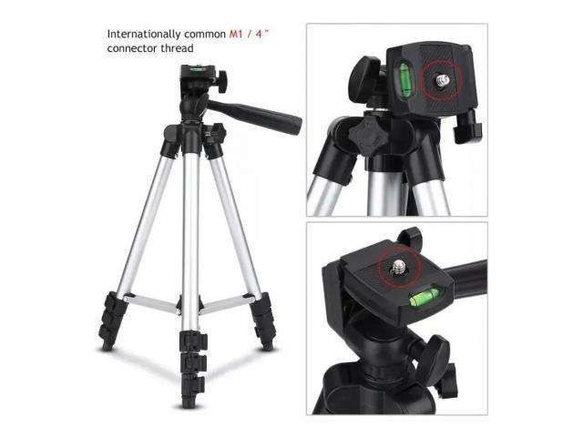 Tripé Para Câmera Celular 1,02 M aluminio Universal Telescópico - 1/6