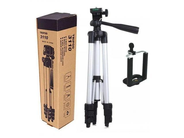 Tripé Para Câmera Celular 1,02 M aluminio Universal Telescópico - 4/6