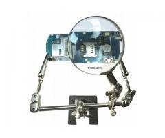 Lupa para Celular e Eletrônica Com Garras Jacaré Articulável 360º Lente de Aumento Fzf
