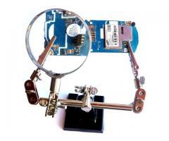 Lupa para Celular e Eletrônica Com Garras Jacaré Articulável 360º Lente de Aumento Fzf - Imagem 5/6