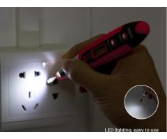Caneta Detectora de Continuidade Teste Tensão Não Contato Lanterna