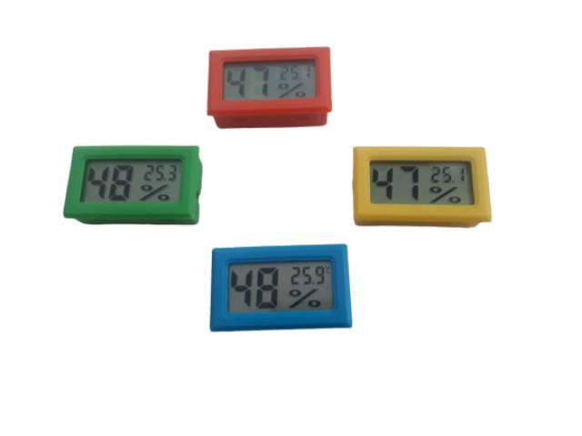 Termômetro Higrômetro Termohigrometro  Digital Colorido - 1/5