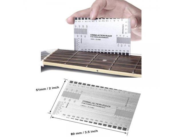 Régua Altura Cordas inox  luthier Regulagem de  altura de cordas  instrumentos de cordas - 6/6