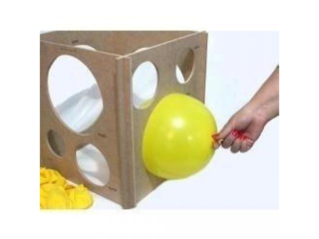 Medidor Gabarito de Balões, Bexigas, Bolas Balão 3 a 10 - Medir Balão - 1/4
