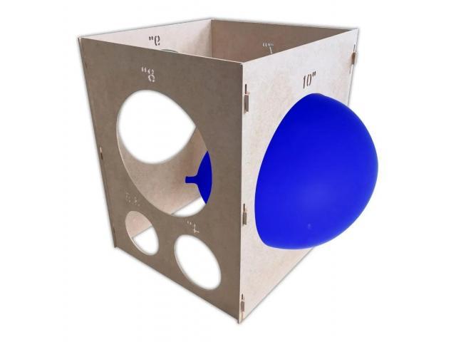 Medidor Gabarito de Balões, Bexigas, Bolas Balão 3 a 10 - Medir Balão - 3/4