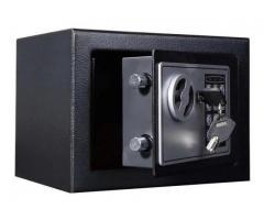 Cofre Eletrônico Digital Teclado Com Senha + 2 Chaves