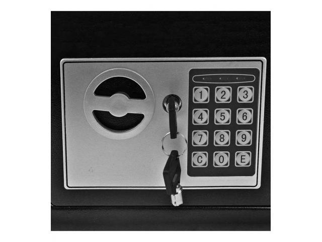 Cofre Eletrônico Digital Teclado Com Senha + 2 Chaves - 2/4