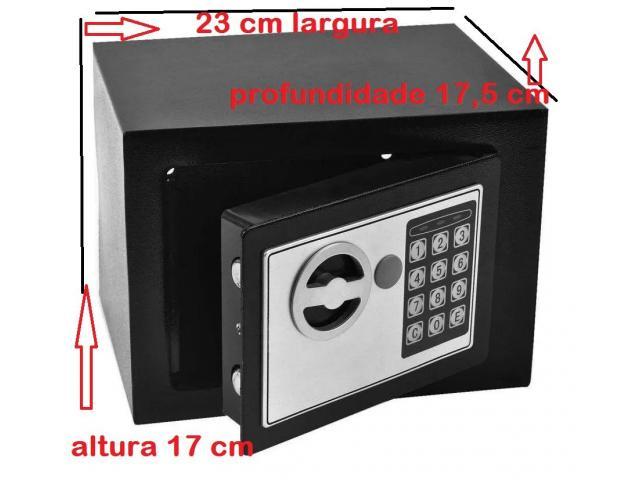 Cofre Eletrônico Digital Teclado Com Senha + 2 Chaves - 4/4