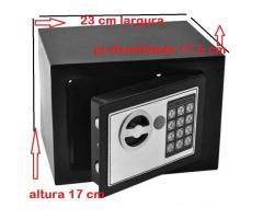 Cofre Eletrônico Digital Teclado Com Senha + 2 Chaves - Imagem 4/4