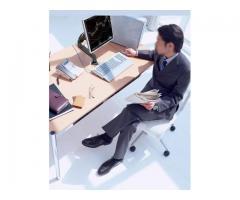 Suporte para Monitor Articulado Leia na Vertical Fixação na Borda ou no Centro da Mesa