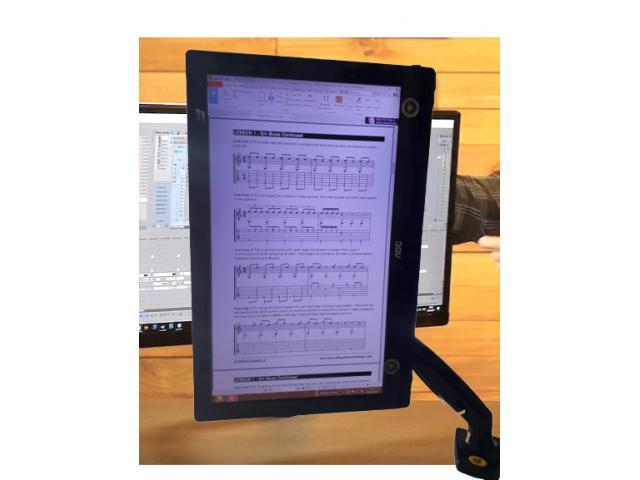 Suporte para Monitor Articulado Leia na Vertical Fixação na Borda ou no Centro da Mesa - 3/5