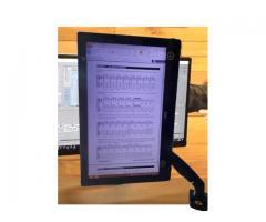 Suporte para Monitor Articulado Leia na Vertical Fixação na Borda ou no Centro da Mesa - Imagem 3/5