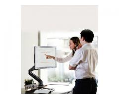 Suporte para Monitor Articulado Leia na Vertical Fixação na Borda ou no Centro da Mesa - Imagem 4/5