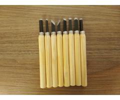 Mini Formão Goiva para Entalhe Xilogravura - Kit com 8 Peças