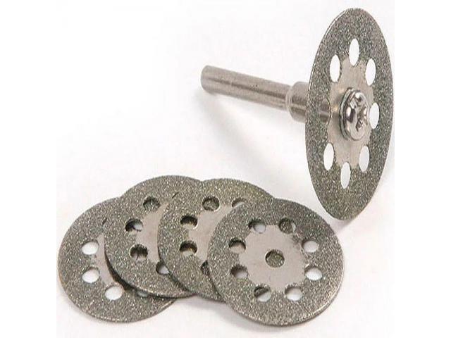 Kit de Disco de Corte Diamantado para Micro Retífica Microretifica - 2/3