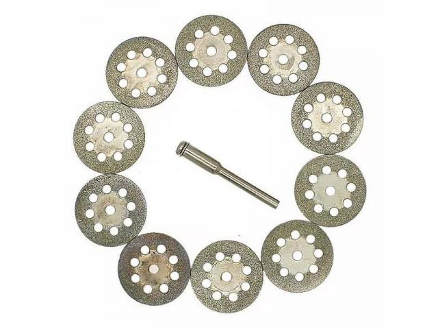 Kit de Disco de Corte Diamantado para Micro Retífica Microretifica - 3/3