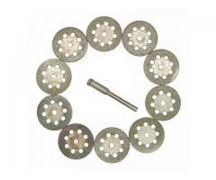 Disco de Corte Diamantado para Micro Retífica Microretifica - Kit com 10pcs