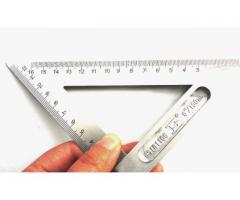 Esquadro 45/90 Graus Aço Inox Profissional - Imagem 3/4