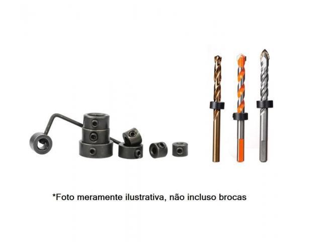 Anel Limitador para Broca - Kit com 8 Anéis + 1 Chave Allen - 2/4