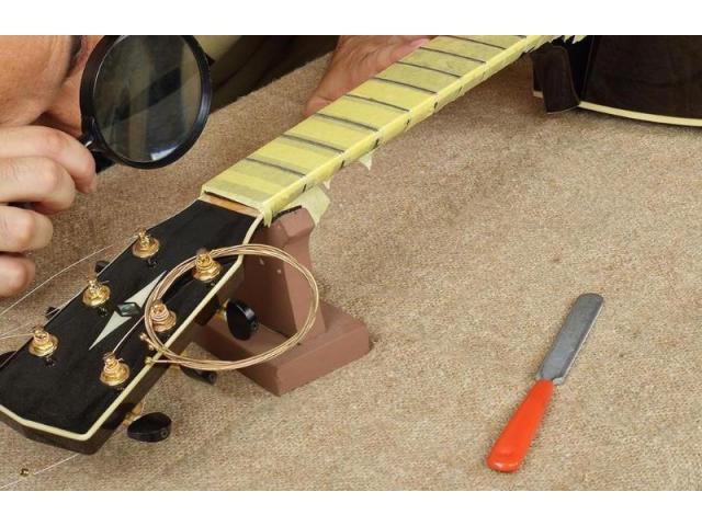 Kit pro luthier 10  itens fita limas rocker reguas gab  raio prot de trastes afasta cordas - 5/6