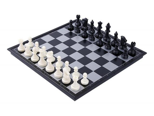 Jogo de Xadrez Magnético Dobrável - Fácil de Carregar - 1/3