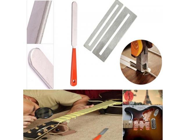Kit Luthier Pro 43 pças Prensa Manual Trastes Limas Reguas Fita de Cobre etc - 4/5