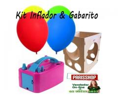 Kit festa inflador de balões + Gabarito medidor balões padronizados - Imagem 1/6