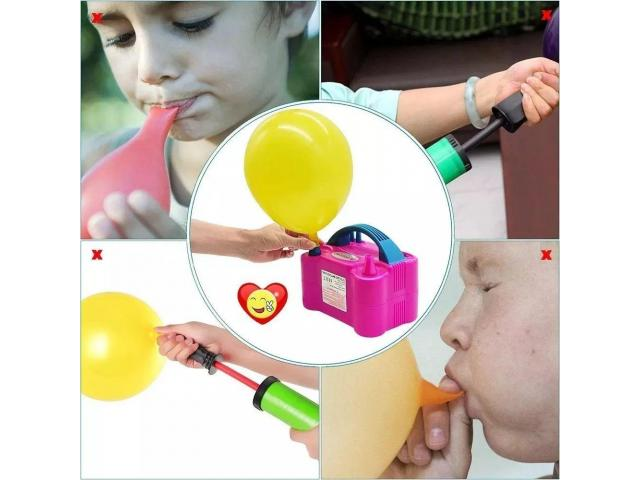 Kit festa inflador de balões + Gabarito medidor balões padronizados - 2/6