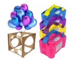 Kit festa inflador de balões + Gabarito medidor balões padronizados - Imagem 3/6