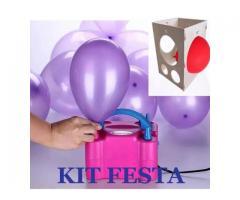 Kit festa inflador de balões + Gabarito medidor balões padronizados - Imagem 4/6