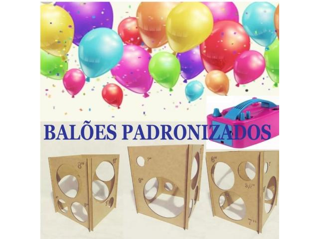 Kit festa inflador de balões + Gabarito medidor balões padronizados - 5/6