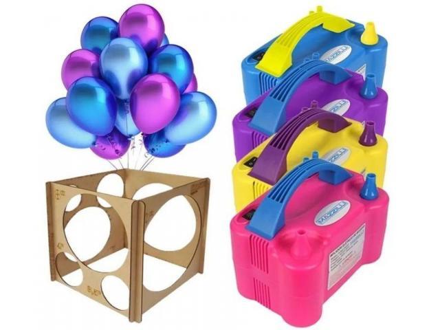 Kit festa inflador de balões + Gabarito medidor balões padronizados - 6/6