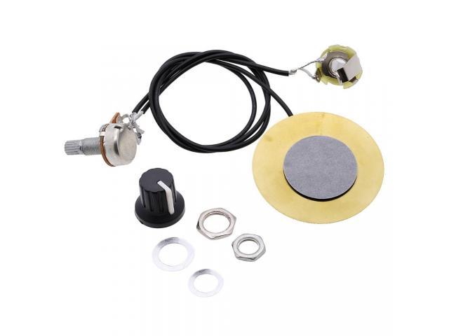 captador  Piezo amplificador Para  fabricar cigar box Stomp box - 1/6