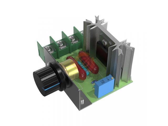 Dimmer Para maquinas  ate 2000w 50~220v Scr Regulador De Tensão Eletrônico Pwm - 2/6