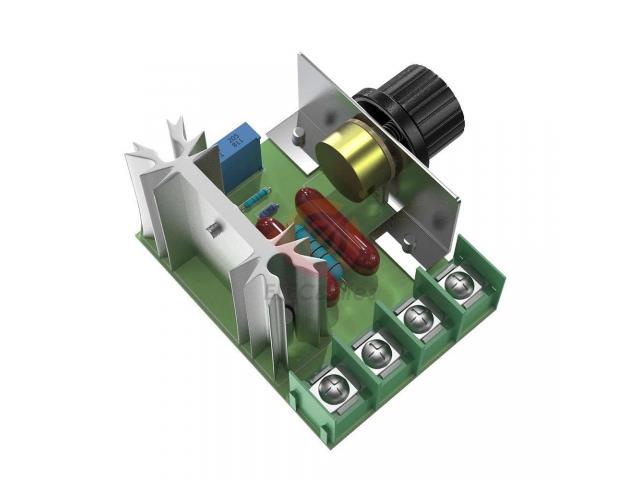 Dimmer Para maquinas  ate 2000w 50~220v Scr Regulador De Tensão Eletrônico Pwm - 3/6