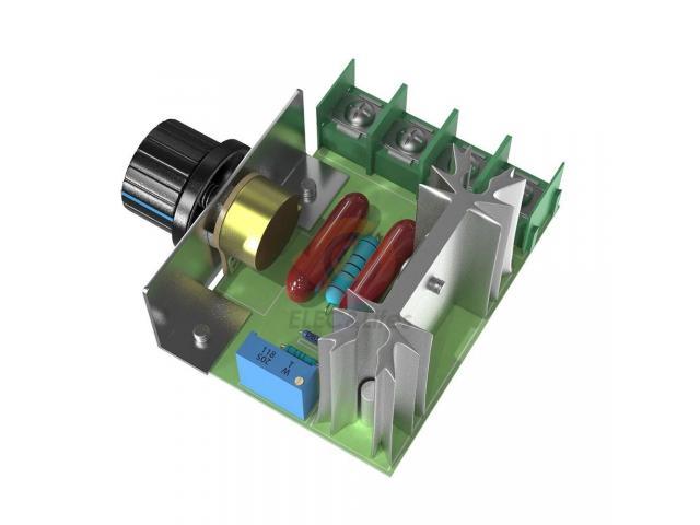 Dimmer Para maquinas  ate 2000w 50~220v Scr Regulador De Tensão Eletrônico Pwm - 4/6