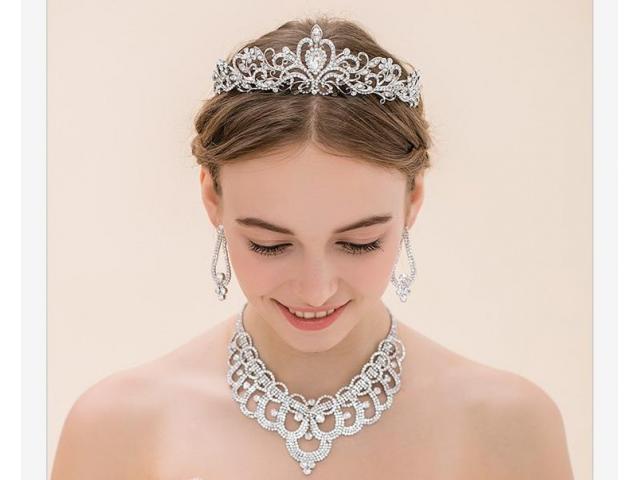 Coroa Tiara Noiva Festa Debutante Formatura Princesa - 2/2