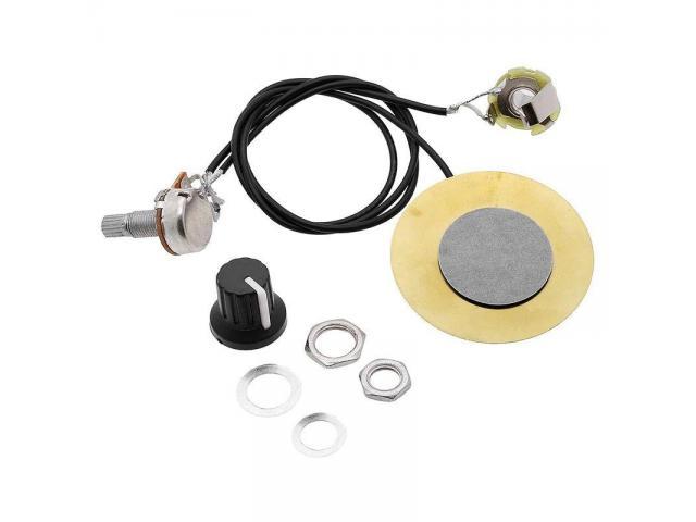 captador  Piezo amplificador Para  fabricar cigar box Stomp box - 3/6