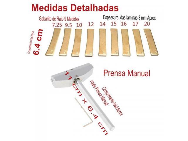 """Prensa Trastes Guitarra Baixo Violão Completo todos os Raios 7.25""""/9.5""""/10""""/12""""/14""""/15""""/16""""/17""""/20"""" - 5/5"""