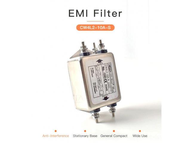 Filtro de Energia Anti Ruído e Interferência Elétrico EMI Monofásico 10a 115 v 250 v cw4l2 50/60 hz - 1/6