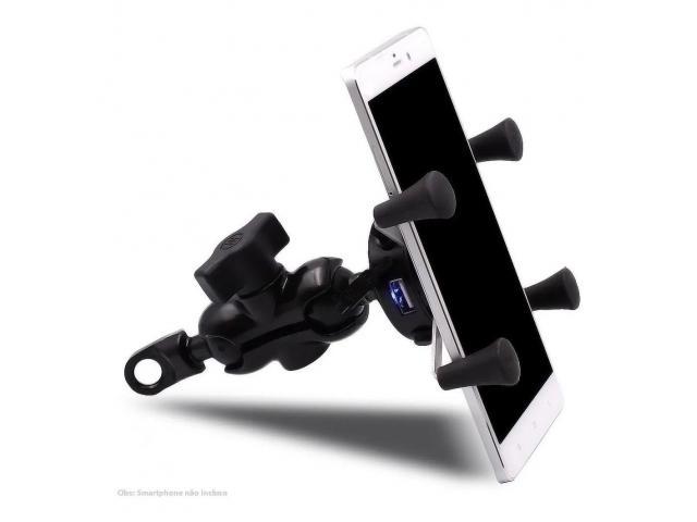 Suporte para Celular Moto com USB Carregador Universal - 3/6