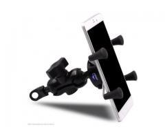 Suporte para Celular Moto com USB Carregador Universal
