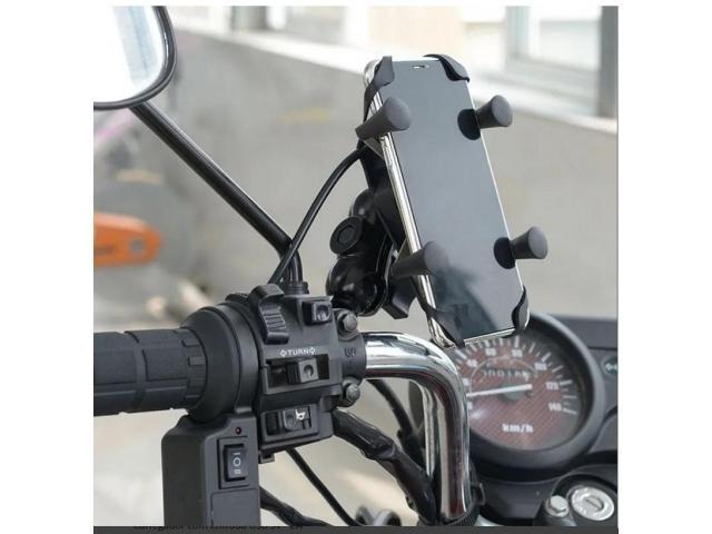 Suporte para Celular Moto com USB Carregador Universal - 6/6