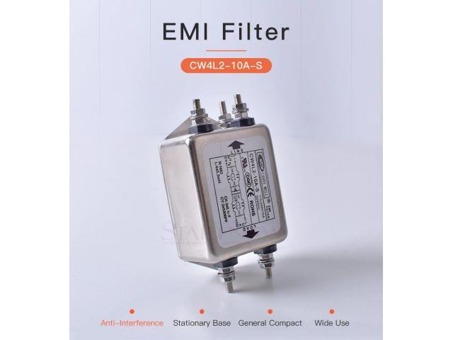 Filtro de Energia Anti Ruído e Interferência Elétrico EMI Monofásico 10a 115 v 250 v cw4l2 50/60 hz - 6/6