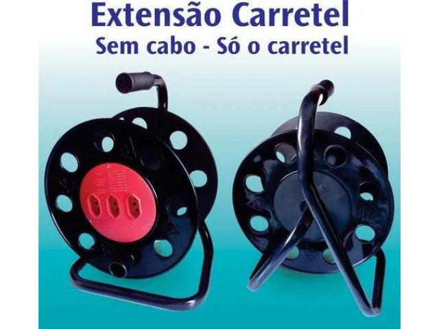 Extensão Carretel com 3 Tomadas Vazio Suporta até 40 metros - 5/6