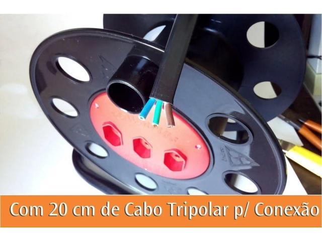 Extensão Carretel com 3 Tomadas Vazio Suporta até 40 metros - 6/6