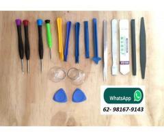 Jogo de Chave de Precisão Iphone Kit com 18pcs - Ventosa, Espátula, Palheta, Chaves, Pinça