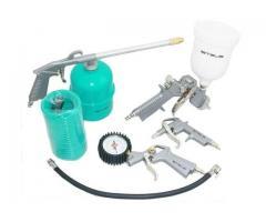 Kit Pintura Pistola Tanque Alto para Compressor com 5 Peças - Imagem 2/2