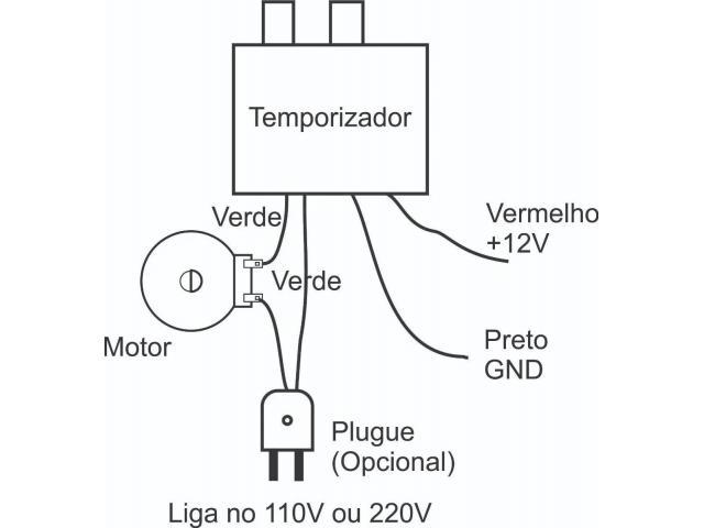 Temporizador Controlador de Tempo Viragem De Ovos P/ Chocadeira - 2/3