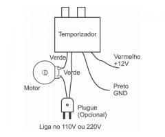 Temporizador Controlador de Tempo Viragem De Ovos P/ Chocadeira